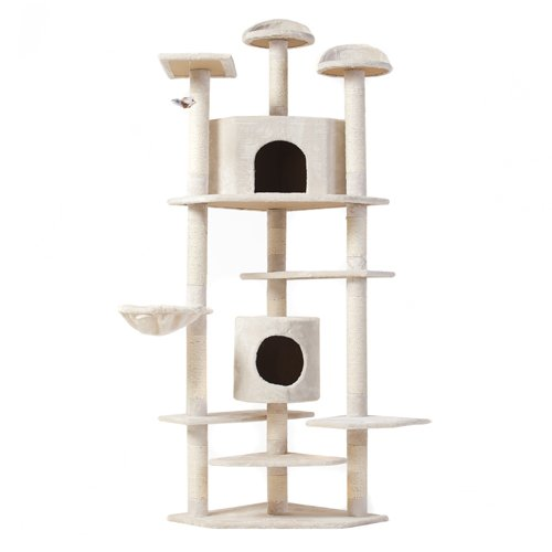 """""""The Tabby"""" Cat Nap Cat Tree Condo Pet Furniture Scratching Post Premium Quality Pet House, 80"""""""