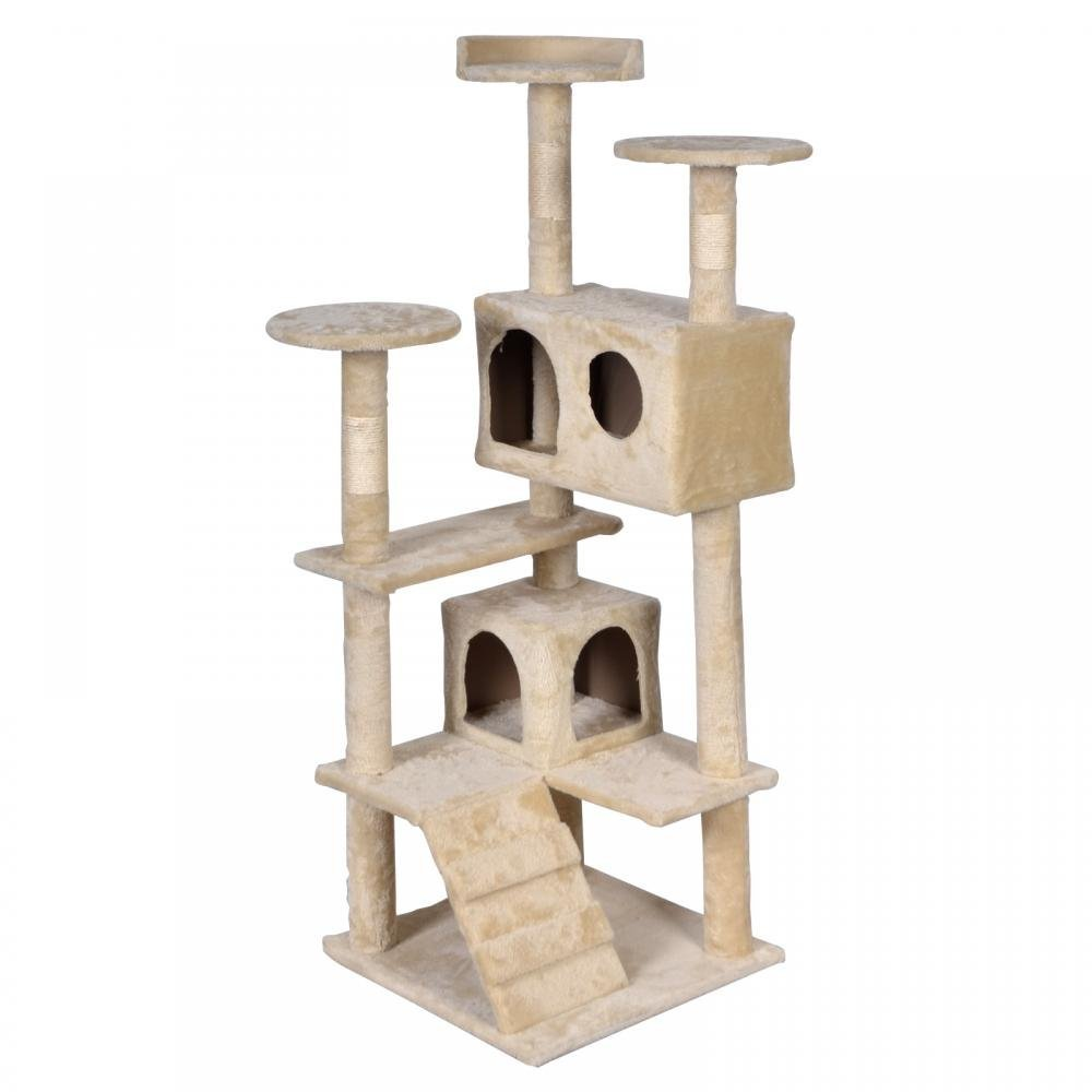 BestPet Beige Cat Tree Tower Condo Furniture Scratch Post Kitty Pet House