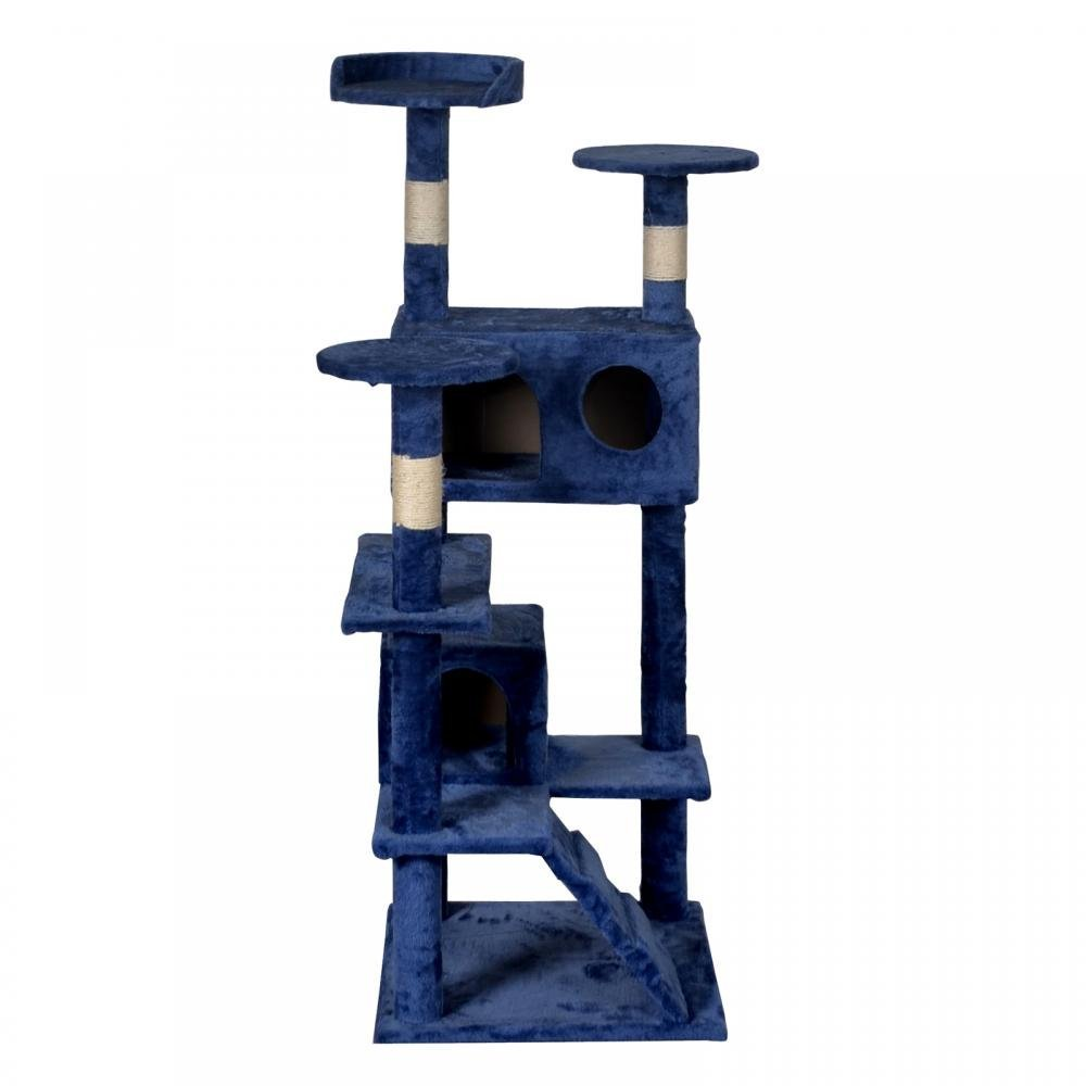 BestPet Navy Blue Cat Tree Tower Condo Furniture Scratch Post Kitty Pet House