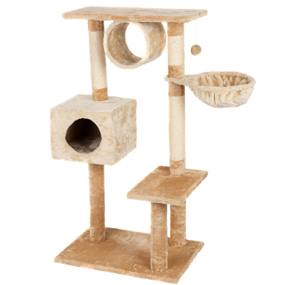"""Favorite Multi-Level 46"""" Cat Tree with Scratching Post"""