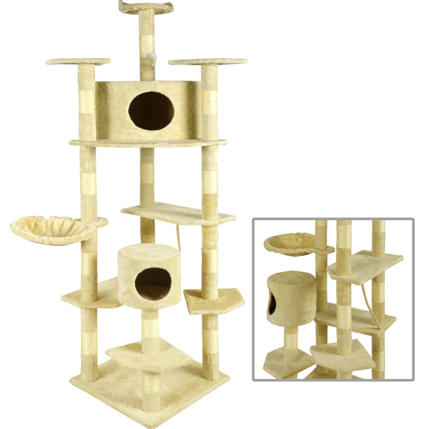 BestPet Cat Tree Condo Furniture Scratching Post Pet Cat Kitten Pet House