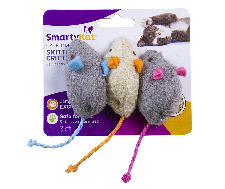 SmartyKat Skitter Critters Cat Toy Catnip Mice