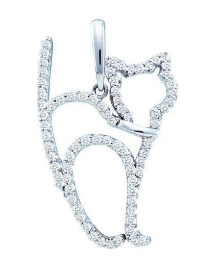 Diamond Cat Pendant