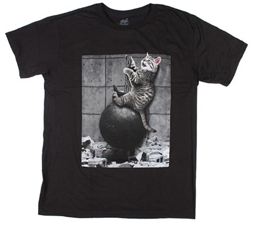 Kitty Cat Wrecking Ball Graphic T Shirt Crazy Cat Lady