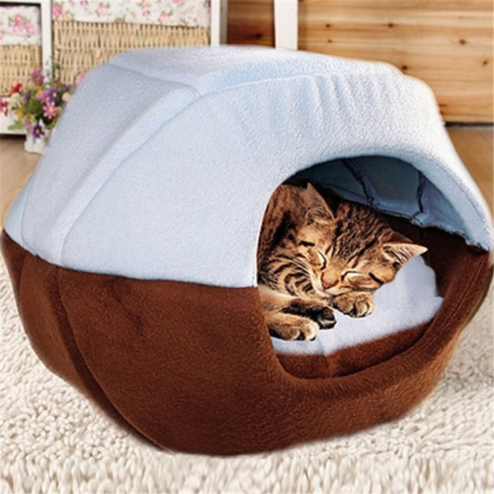 FFMODE Cozy Pet Dog Cat Cave Mongolian Yurt Shaped House Bed with Removable Cushion inside