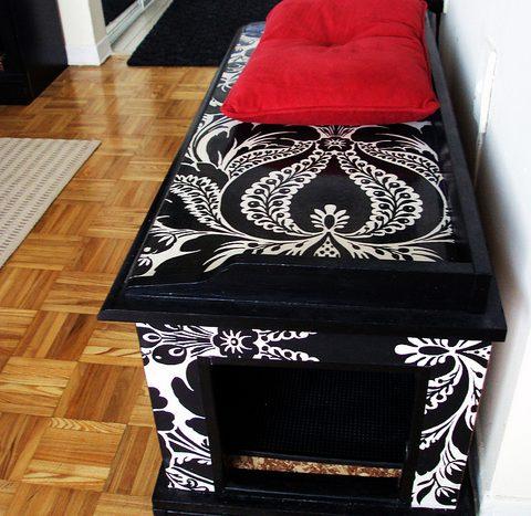 Damask Litter Box Furniture