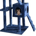 "73"" Cat Tree Scratcher Play House Condo Furniture Bed Post Pet House"