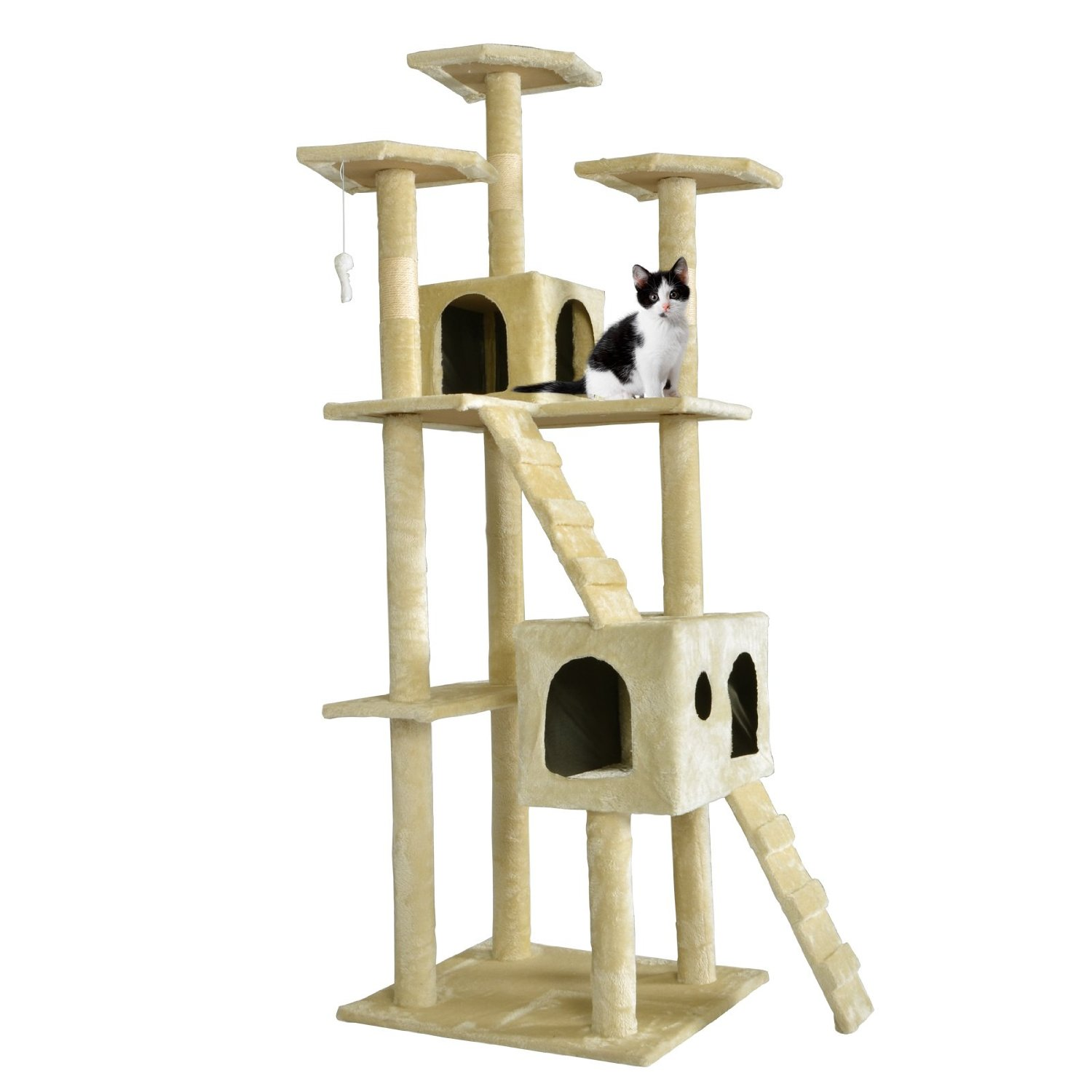 Cat Tree Scratcher Play House Condo Furniture Toy