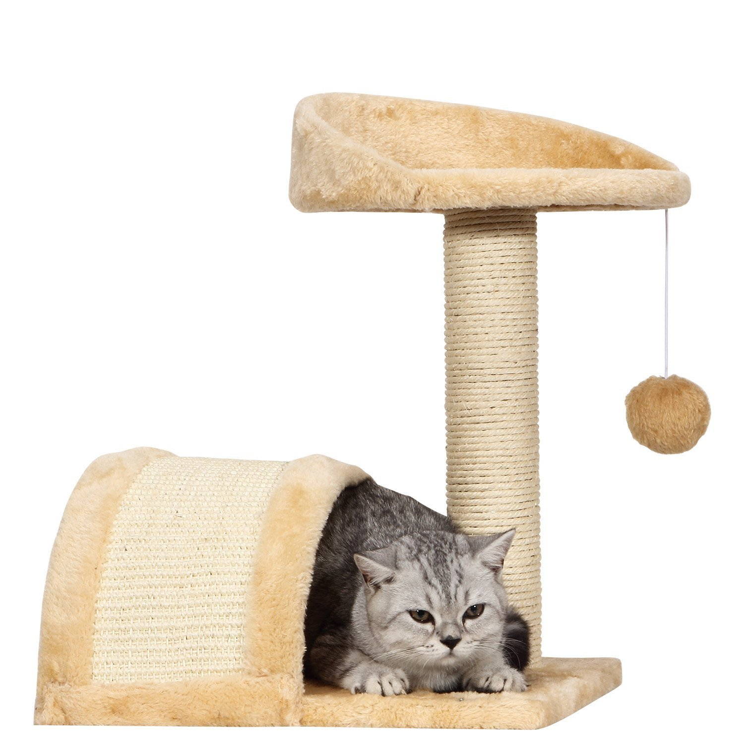 Ollieroo Small Cat Tree Sisal Scratching Post Furniture