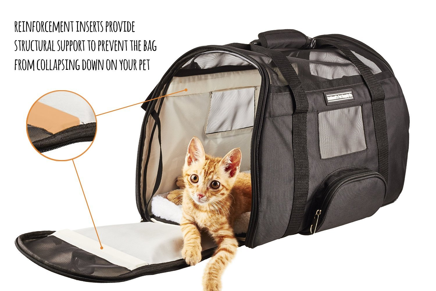 Airline Approved Pet Carrier >> Caldwell's Pets Supply Co. Deluxe Soft-sided Airline ...