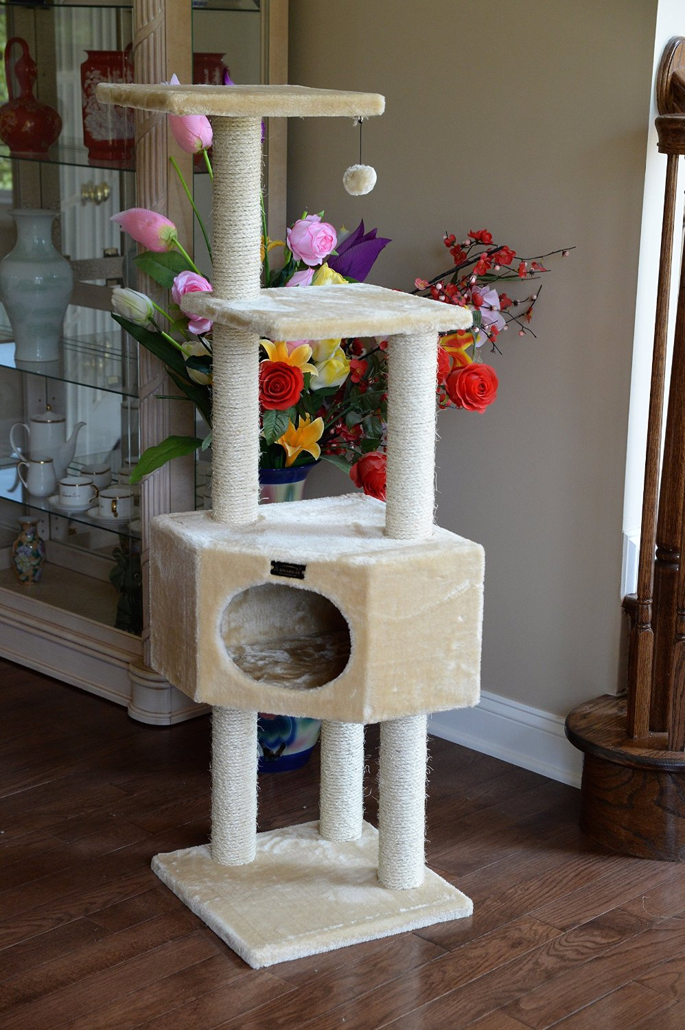 Armarkat Cat Tree Furniture Condo Height 50 Inch To 60