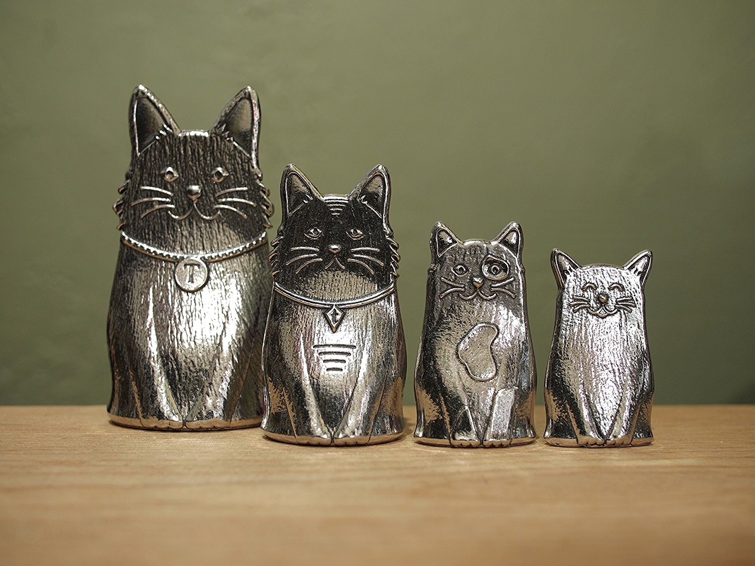 Pewter Measuring Cat Spoons