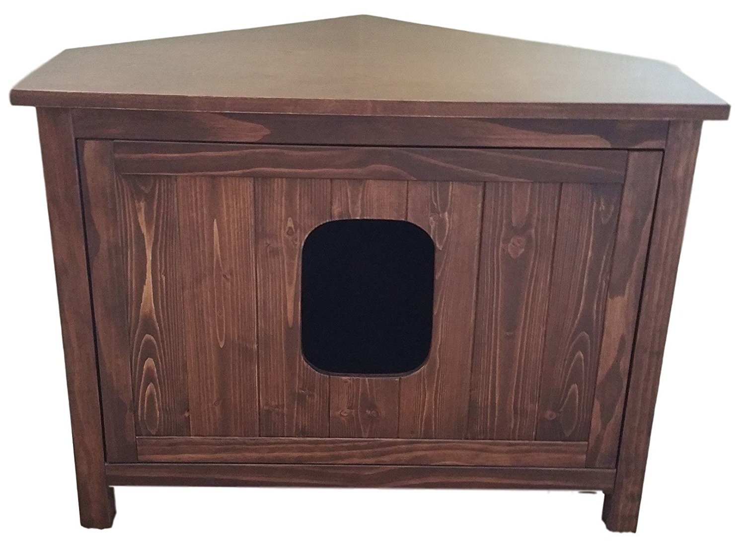 Odor Free Corner Cat Litter Box Cabinet.