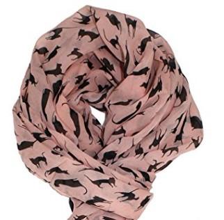 Pin chiffon cat scarf