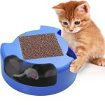 OxGord Interactive Cat Toy with Mouse and Turbo Scratching Pad