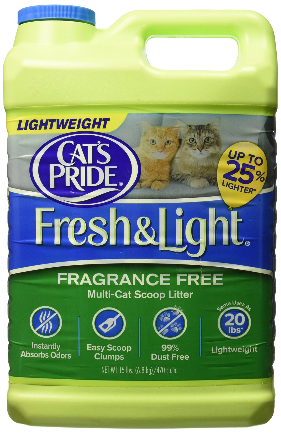Oil Dri Cat's Pride Fresh and Light Premium Clumping Fragrance Free Scoopable Cat Litter