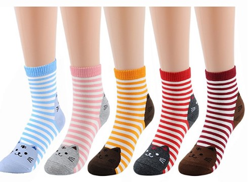 Deer Mum Women & Girls Cotton Crew Floor Socks