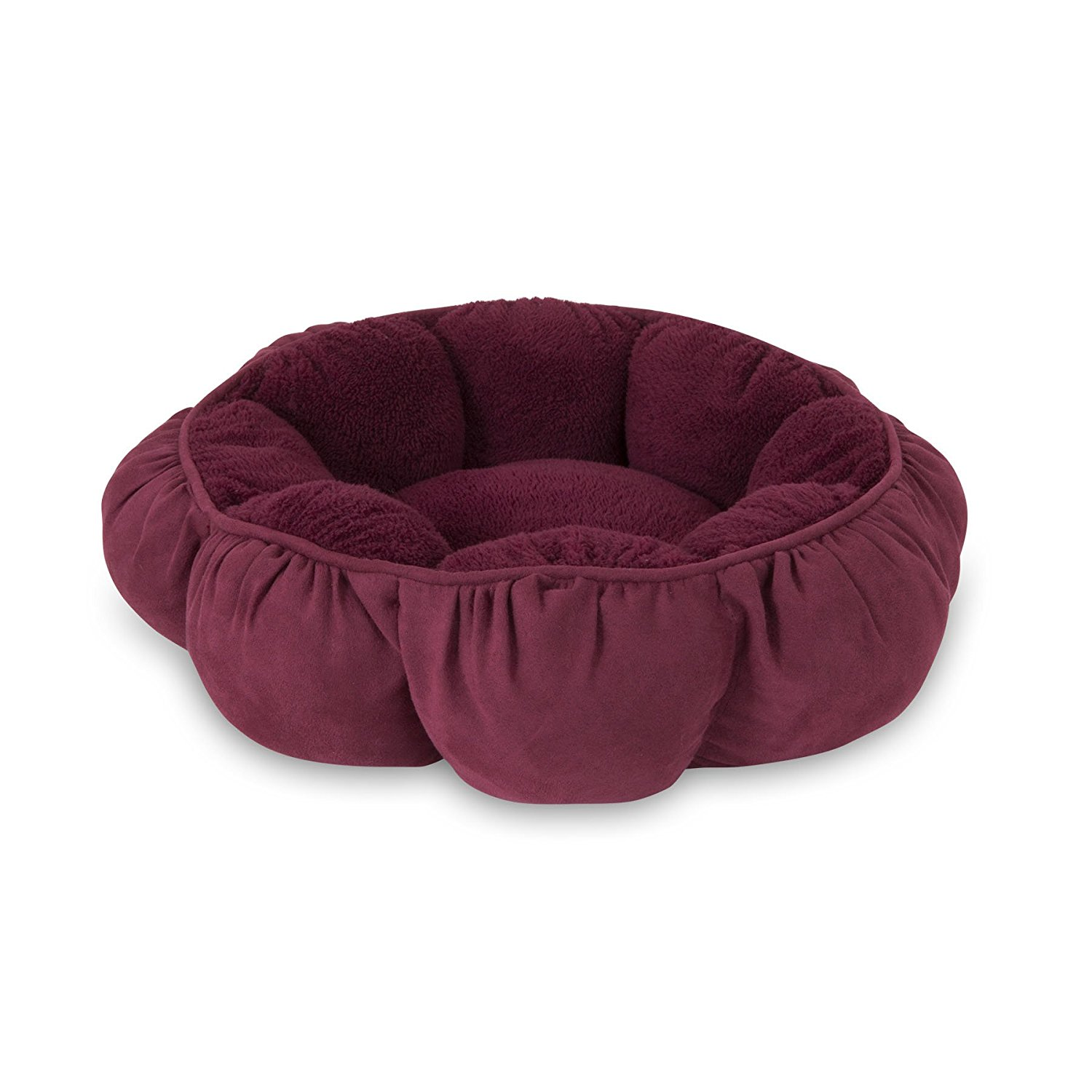 "Aspen Pet Puffy Round Cat Bed (18"") Assorted Colors"