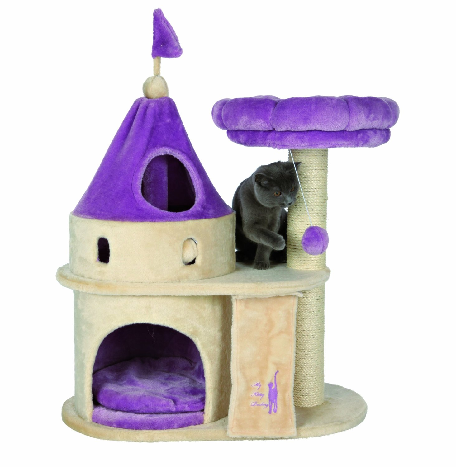 TRIXIE My Kitty Darling Scratching Castle Cat Tree