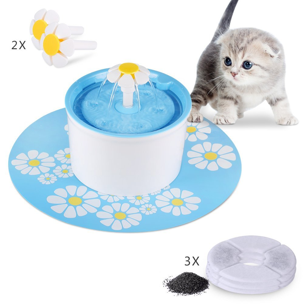 Silent Pet Fountain Auto Circulating 1.6L