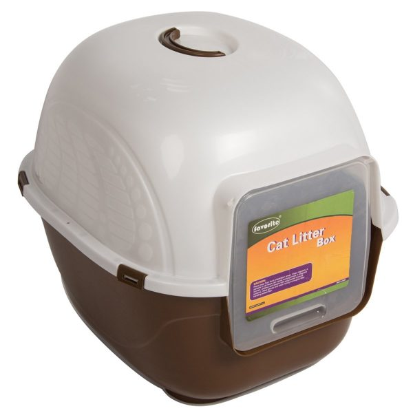 Favorite Portable Side Enter Covered Cat Litter Box, 2 Sizes